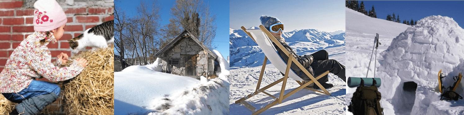 Les Pyrénées dans la beauté de l'hiver.